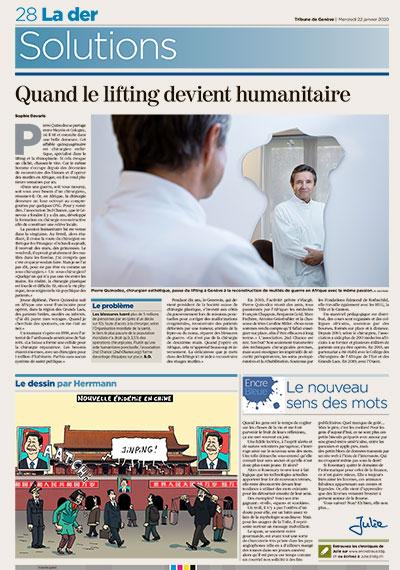 Tribune de Genève - Quand le lifting devient humanitaire